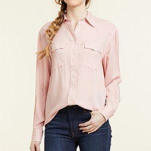 NWT FRYE Pink Addie Western Shirt